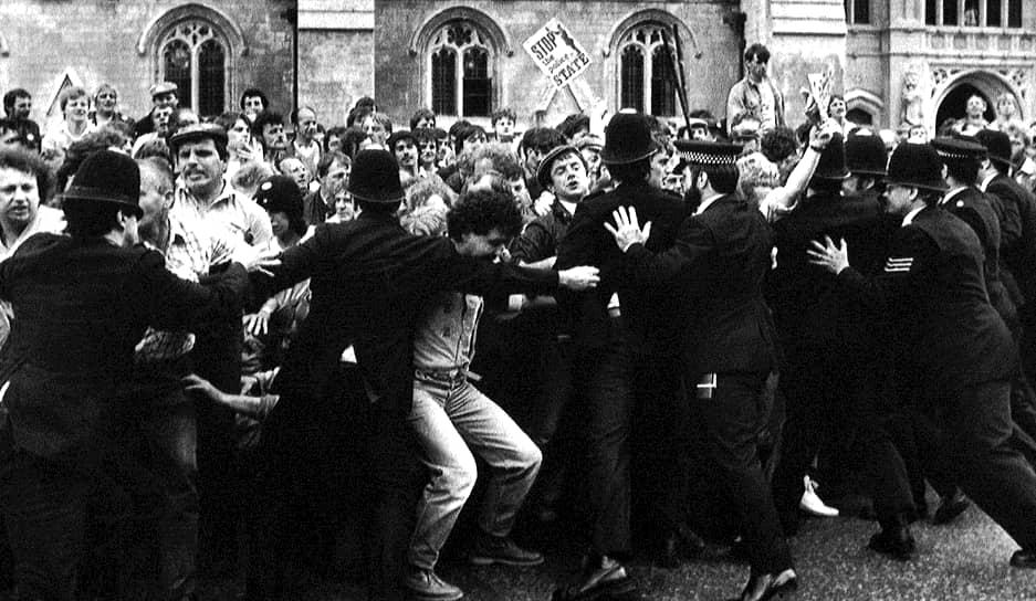 7 июля 1984 года. Столкновение шахтеров с полицией у Вестминстерского дворца