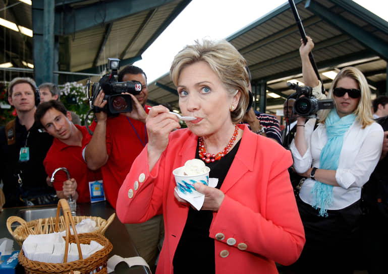 Кандидат в президенты США Хиллари Клинтон, 2008 год