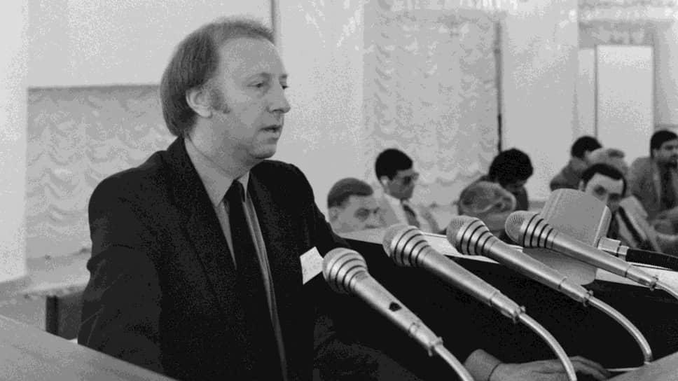 Президент Национального союза горняков Артур Скаргилл был большим другом Советского Союза. На фото: выступление Скаргилла на Всемирной профсоюзной конференции в Москве, 1983 год