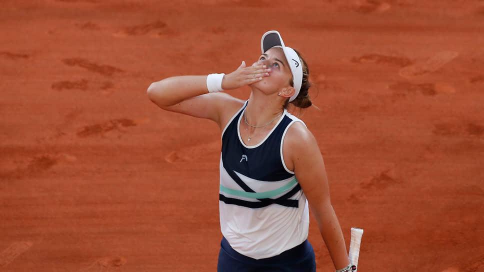 Чешская теннисистка Барбора Крейчикова