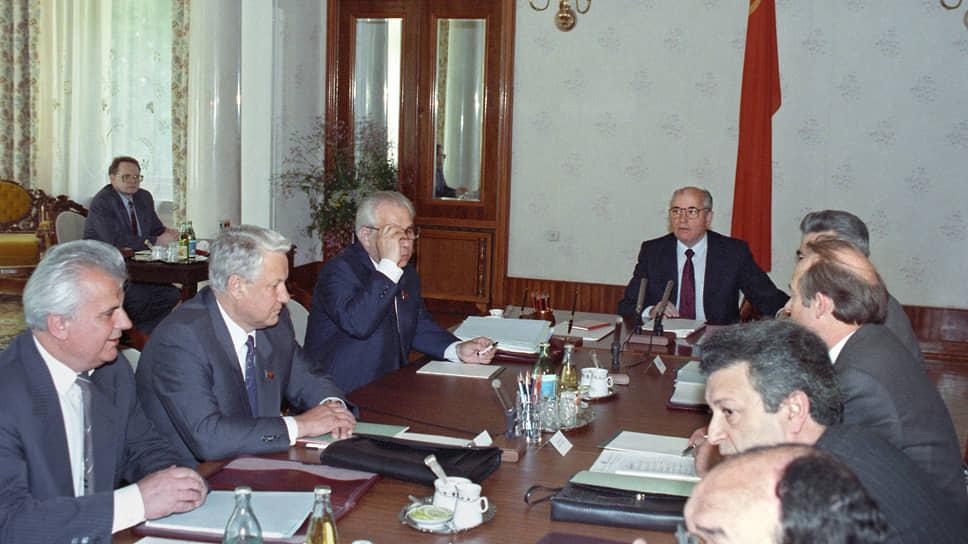 17 июня 1991 года. Заключительное заседание подготовительного комитета в Ново-Огарево по замыслу союзного руководства должно было завершить подготовительный процесс и открыть путь к скорейшему заключению Союзного договора