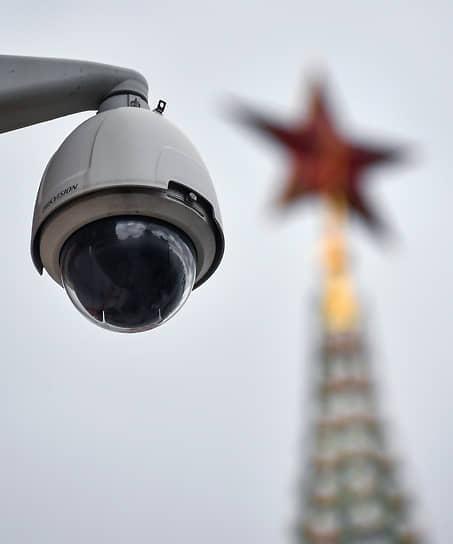 Москва, Россия. Камера видеонаблюдения в центре города