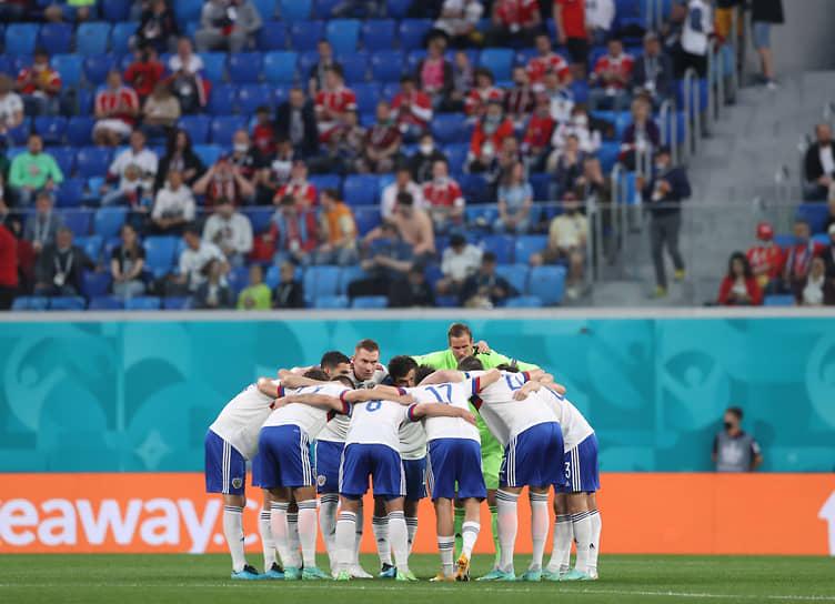 Сборная России перед началом матча