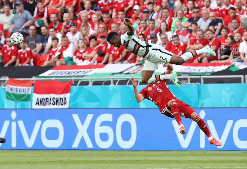 Будапешт, Венгрия. Матч чемпионата Европы между сборными Венгрии и Португалии