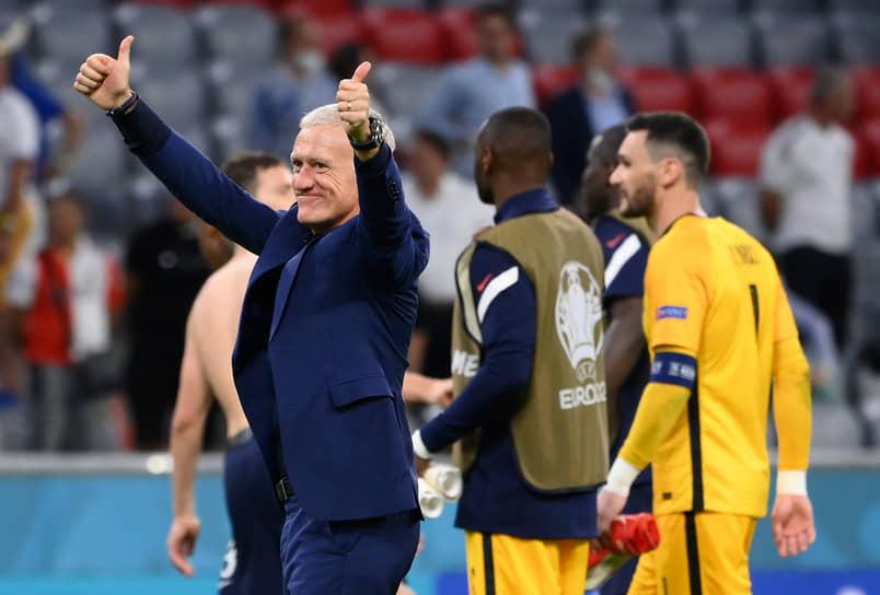 <b>Дидье Дешам, сборная Франции, группа F</b><br> Возраст: 52 года<br> Возглавляет сборную с 8 июля 2012 года<br> Зарплата: €4,4 млн в год<br> Основные достижения: со сборной Франции выиграл чемпионат мира 2018 года