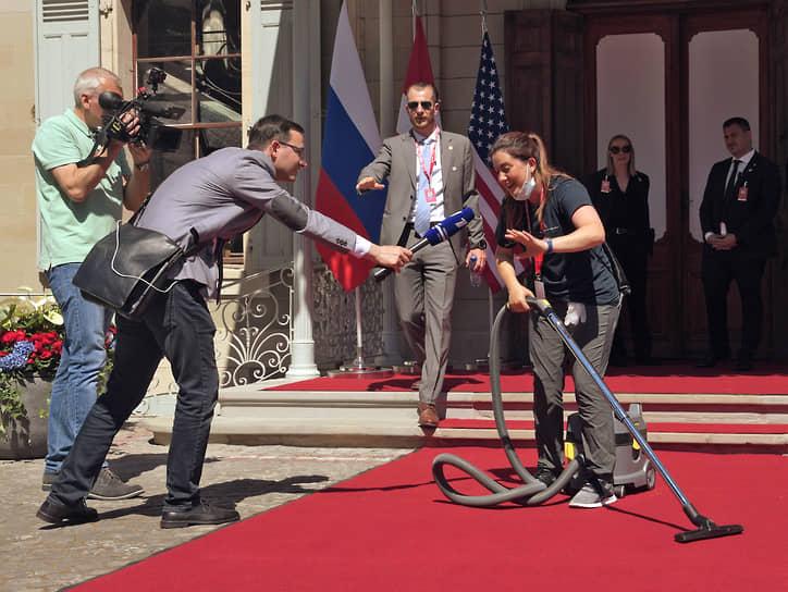 Женева, Швейцария. Подготовка к проведению саммита президентов России и США Владимира Путина и Джо Байдена