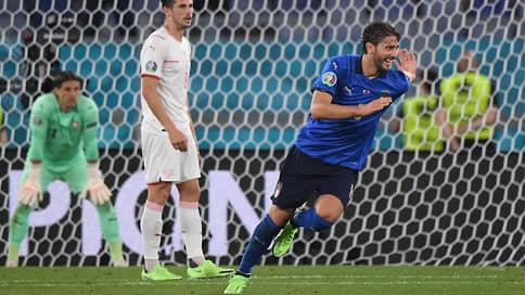 Итальянцы быстры на выход // Во втором матче чемпионата Европы они разгромили швейцарцев