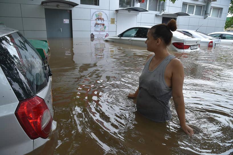 Керчь, Россия. Затопленный из-за сильных ливней город