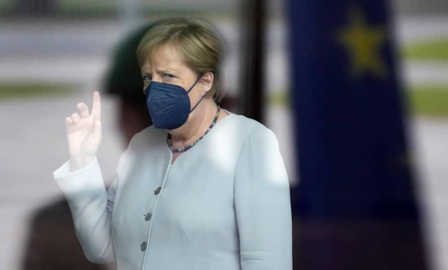Берлин, Германия. Канцлер Ангела Меркель перед встречей с председателем Еврокомиссии Урсулой фон дер Ляйен
