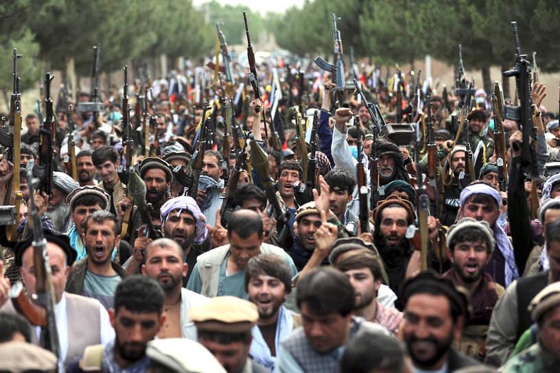 Кабул, Афганистан. Местные ополченцы