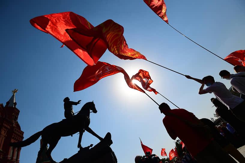 Москва. Памятная церемония на Манежной площади в день 80-летия начала Великой Отечественной войны
