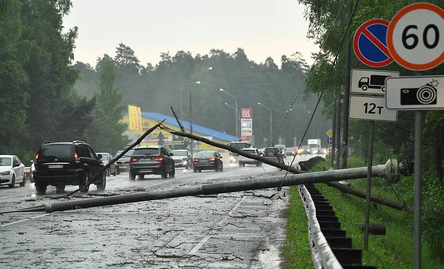 Последствия ливня на Щелковском шоссе