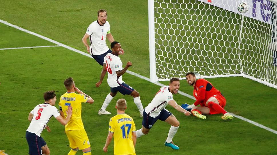 Кадр матча Англия—Украина