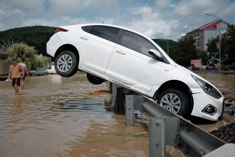Лермонтово, Россия. Последствия наводнения в Краснодарском крае