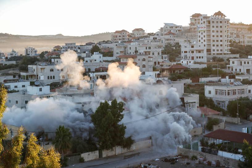 Турмус Айя, Палестина. Дом гражданина США Мунтасира аль-Шалаби, атакованный израильской армией