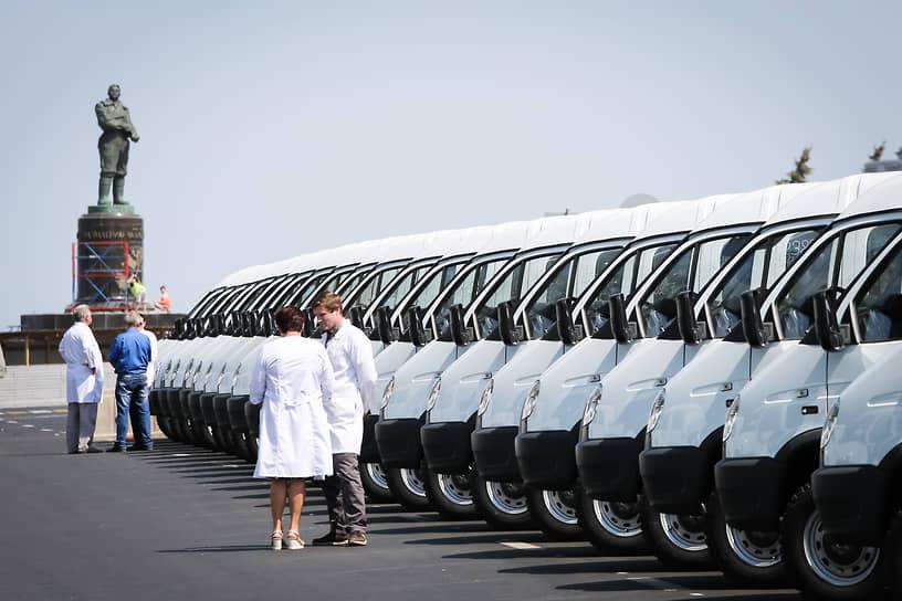 Нижний Новгород, Россия. Торжественное вручение автомобилей ГАЗ медицинским организациям