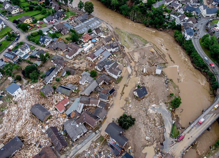 Шульд, Германия. Последствия наводнения