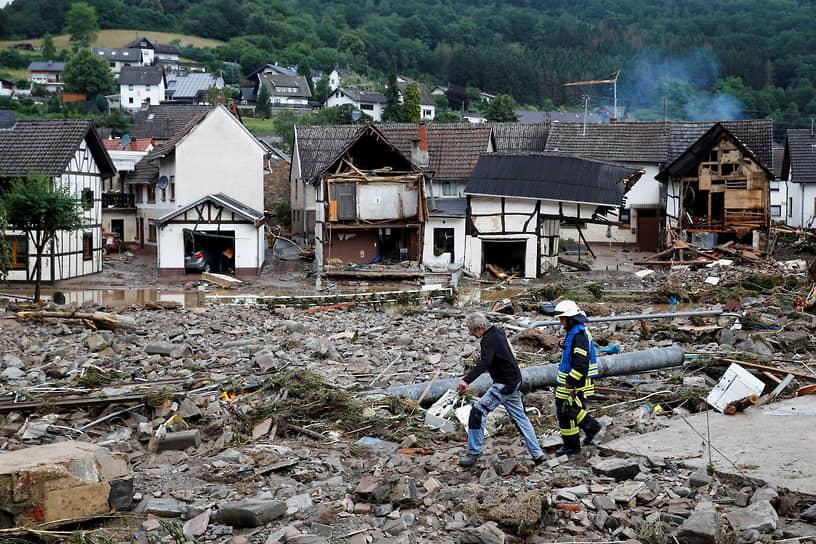 В немецкой коммуне Шульд (на фото) непогода привела к обрушению шести домов