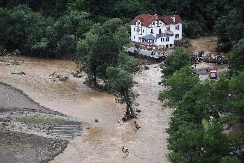 Наводнение в немецкой коммуне Шульд