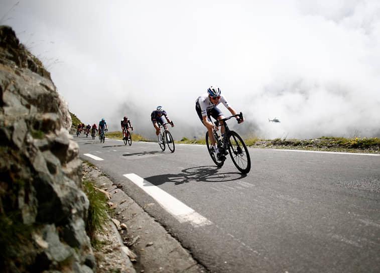 Франция. Участники велогонки «Тур де Франс»