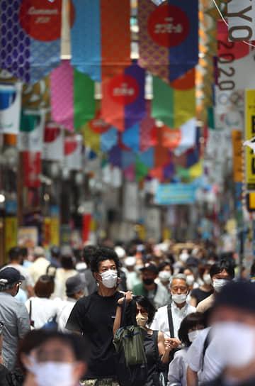С 12 июля до 22 августа в Токио действует режим чрезвычайной ситуации из-за COVID-19