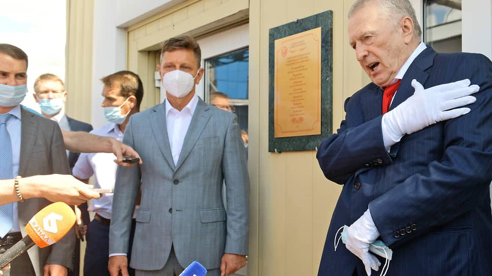 Лидер ЛДПР Владимир Жириновский ответил на вопросы журналистов о будущем губернатора Владимира