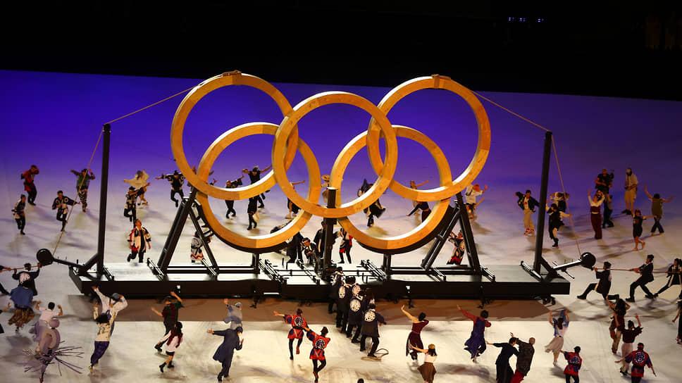 Представление во время церемонии открытия Олимпиады