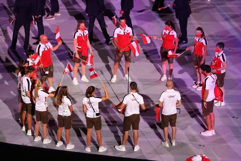 Сборная Австрии на параде атлетов