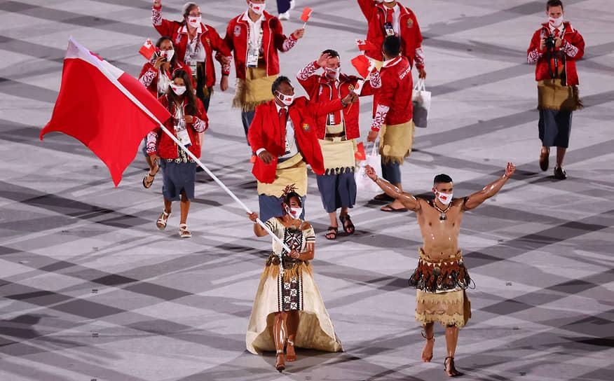 Сборная королевства Тонга на параде атлетов