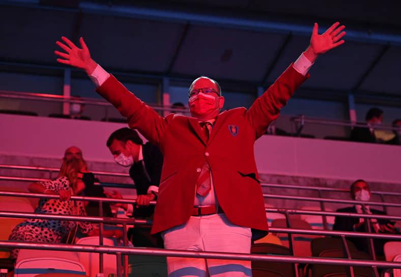 Князь Монако Альбер II на открытии Игр в Токио