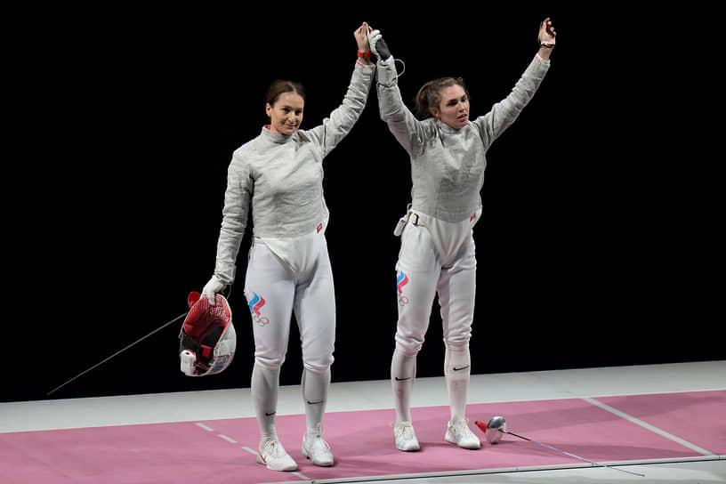 Серебро. Софья Великая (слева). Фехтование, сабля