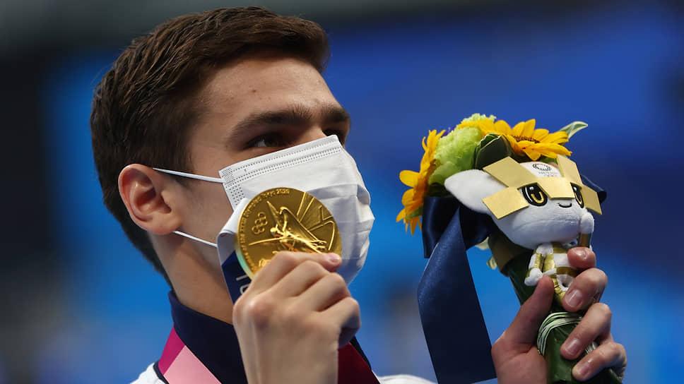 Золото. Евгений Рылов. Плавание, 100 м на спине