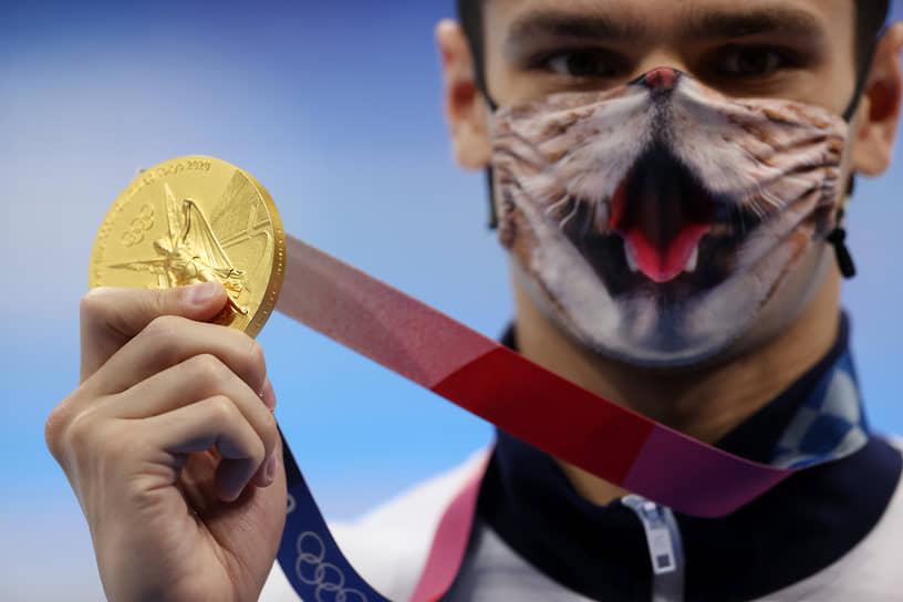Золото. Евгений Рылов. Плавание, 200 м на спине