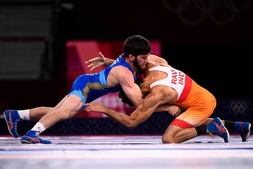 Золото. Заур Угуев. Вольная борьба, до 57 кг