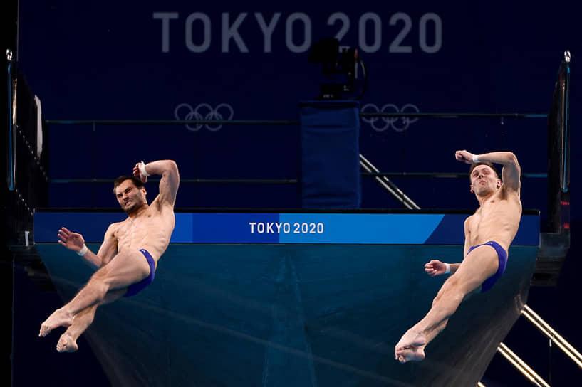 Бронза. Александр Бондарь и Виктор Минибаев. Прыжки в воду, вышка 10 м