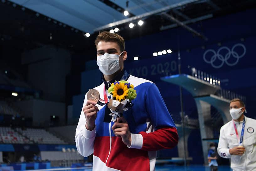 Бронза. Климент Колесников. Плавание, 100 м вольным стилем