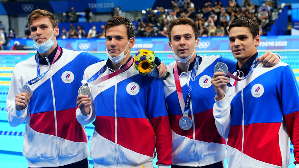 Российские пловцы Мартин Малютин, Иван Гирев, Евгений Рылов и Михаил Довгалюк (слева направо)