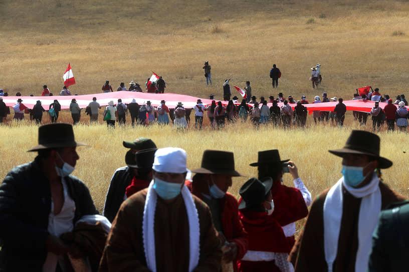 Перу. Ожидание церемонии инаугурации избранного президента страны Педро Кастильо на месте битвы при Аякучо