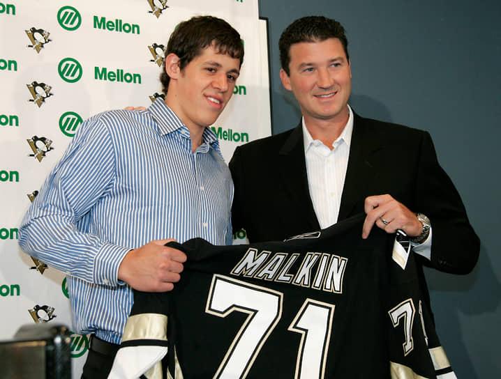 В этом же году на драфте был выбран клубом НХЛ «Питтсбург Пингвинз» под вторым номером, уступив первое место своему соотечественнику Александру Овечкину