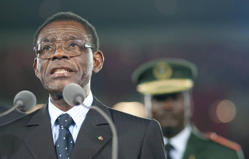 Президент Экваториальной Гвинеи Теодоро Обианг Нгема