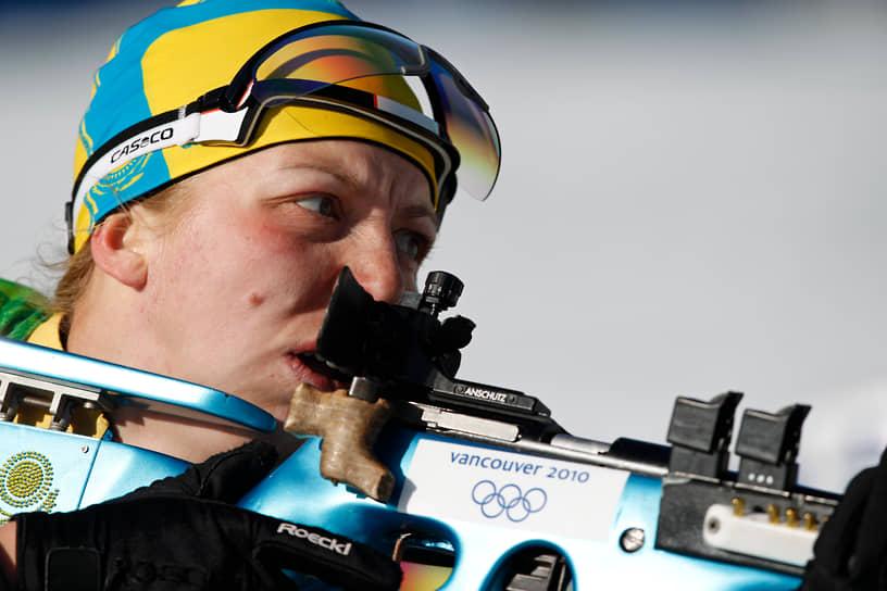 <b>Елена Хрусталева, биатлонистка</b> <br>В сезоне 2001/2002 выступала за Белоруссию, с 2006 года представляет Казахстан. В составе сборной России трижды выигрывала золото на чемпионате Европы, в 2003 году в Италии и 2005 году в России. Выступая за Казахстан, завоевала серебро на Олимпиаде 2010 года в Ванкувере