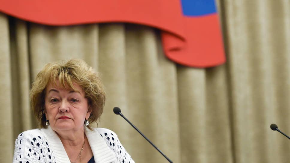 Бывший председатель Российского Красного Креста Раиса Лукутцова
