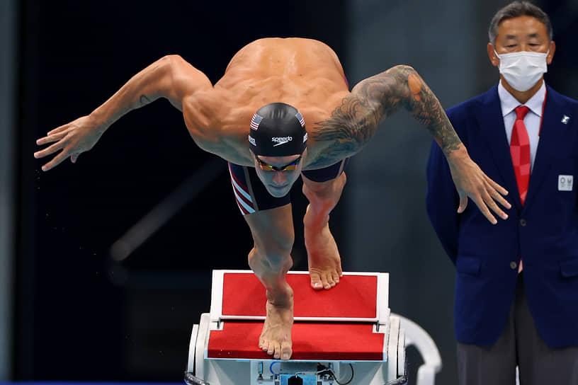<b>Калеб Дрессел (плавание), 5 золотых</b><br> 24-летний американский пловец завоевал в Токио пять медалей, все высшего достоинства (50 м и 100 м вольным стилем, 100 м баттерфляй, эстафеты 4х100 вольным стилем и комбинированная). Установил новый мировой рекорд на 100-метровке баттерфляем и побил три олимпийских рекорда на других дистанциях