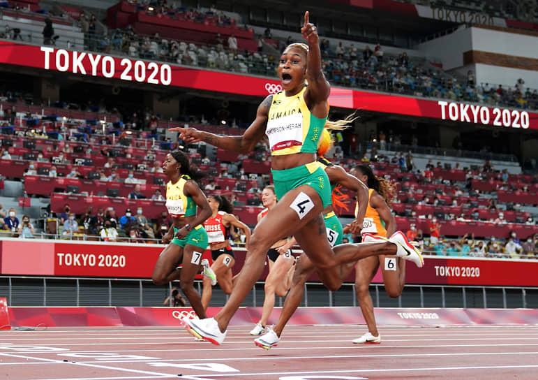 <b>Элейн Томпсон-Хера (легкая атлетика), 3 золота</b><br> 29-летняя представительница Ямайки выиграла в Токио забеги на 100 м, на 200 м, а также эстафету 4x100 м