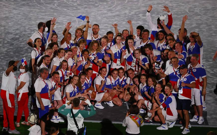 Сборная России на олимпийском стадионе