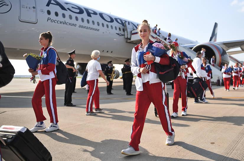 Российские спортсмены во Внуково