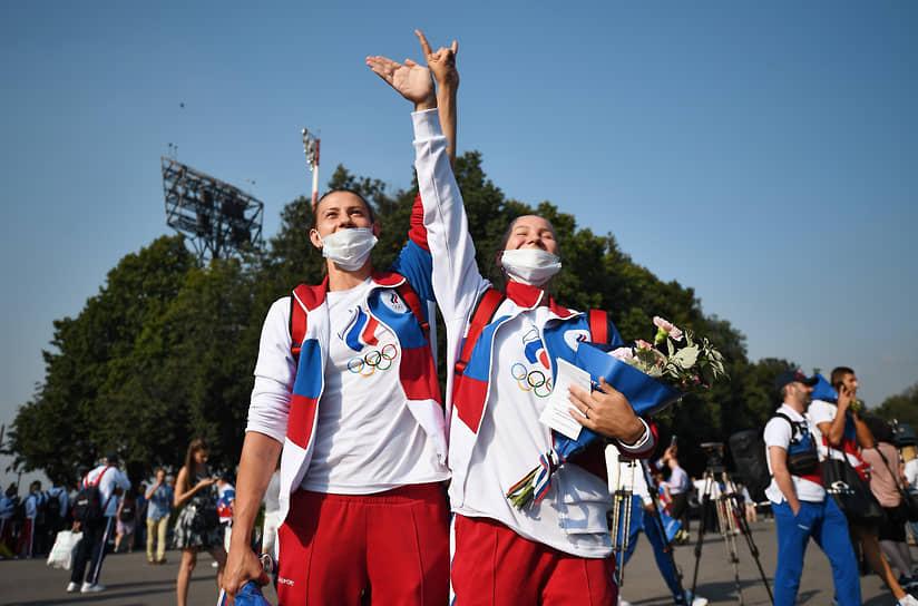 После прилета спортсмены направились на Красную площадь