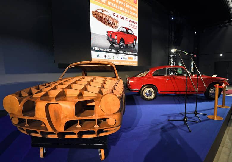 Деревянный макет Alfa Romeo Giulietta Sprint помогает понять, как создавался и воплощался в металле дизайн купе
