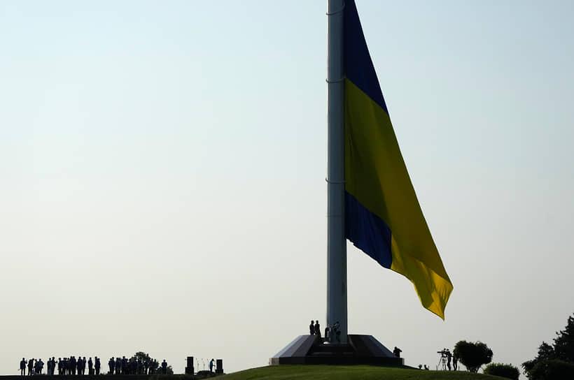 Киев, Украина. Празднование Дня национального флага