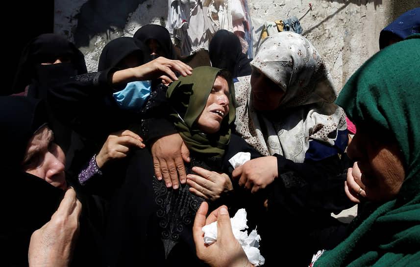 Сектор Газа. Мать убитого во время акции протеста палестинца